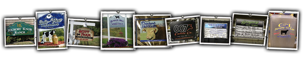 Kustom Signs Livestock Signs Farm Signs Pedigree Signs Agricultural Signs Show Box Lettering
